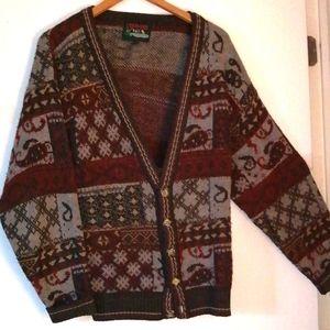 Vintage Wool cardigan size large